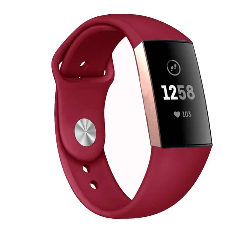Fitbit Charge 3 bandje Siliconen Rood