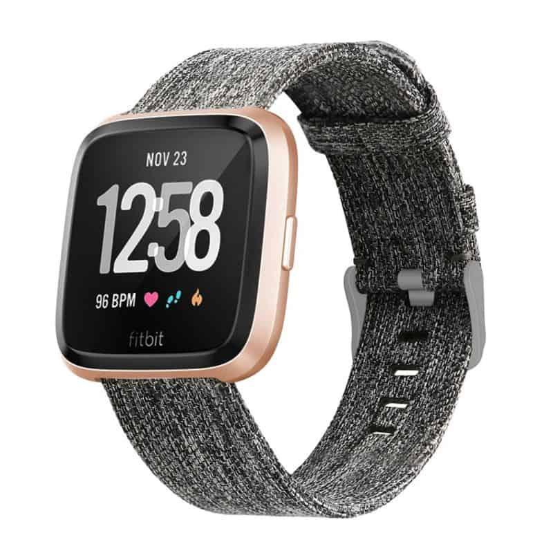 Fitbit Versa Bandje - Zwart - grijs - Onlinebandjes.nl