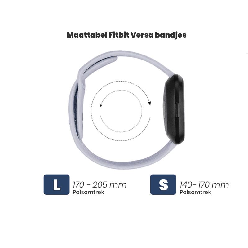 Fitbit Versa Maattabel bandjes - Onlinebandjes.nl