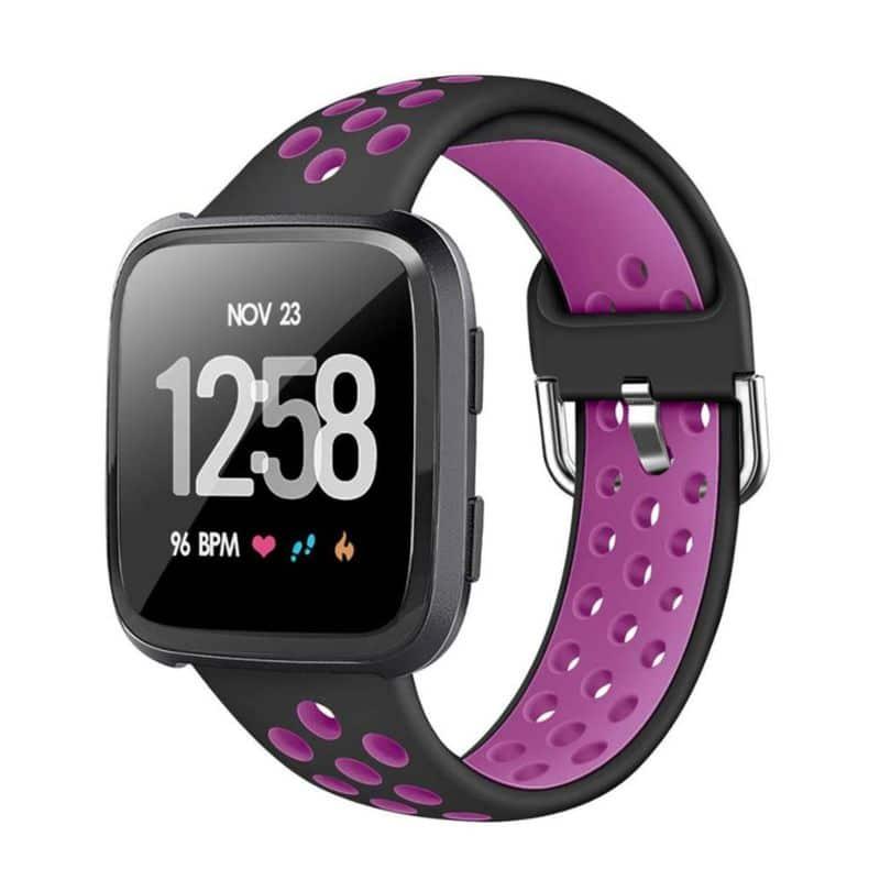 Fitbit Versa bandje - Zwart paars - Onlinebandjes.nl