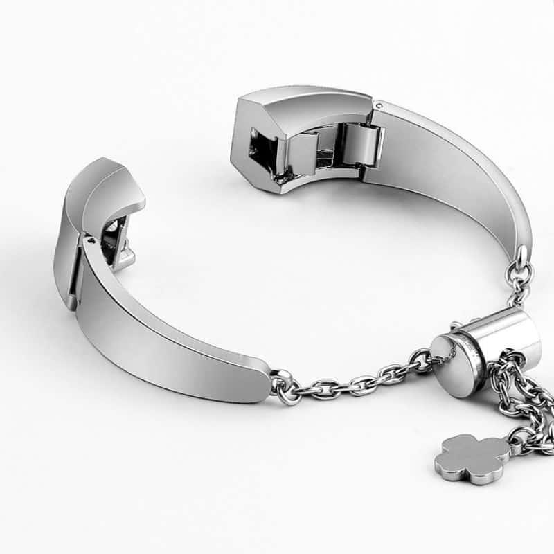 Fitbit alta bandje zilver met hanger - Onlinebandjes.nl