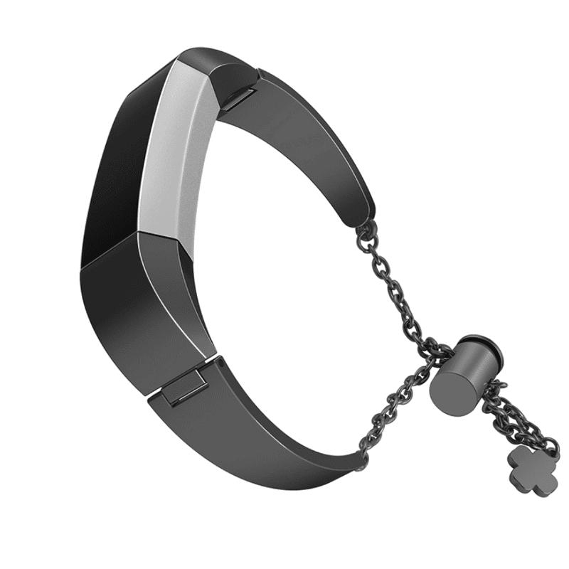 Fitbit alta bandje zwart met hanger - Fitbitbandje.n