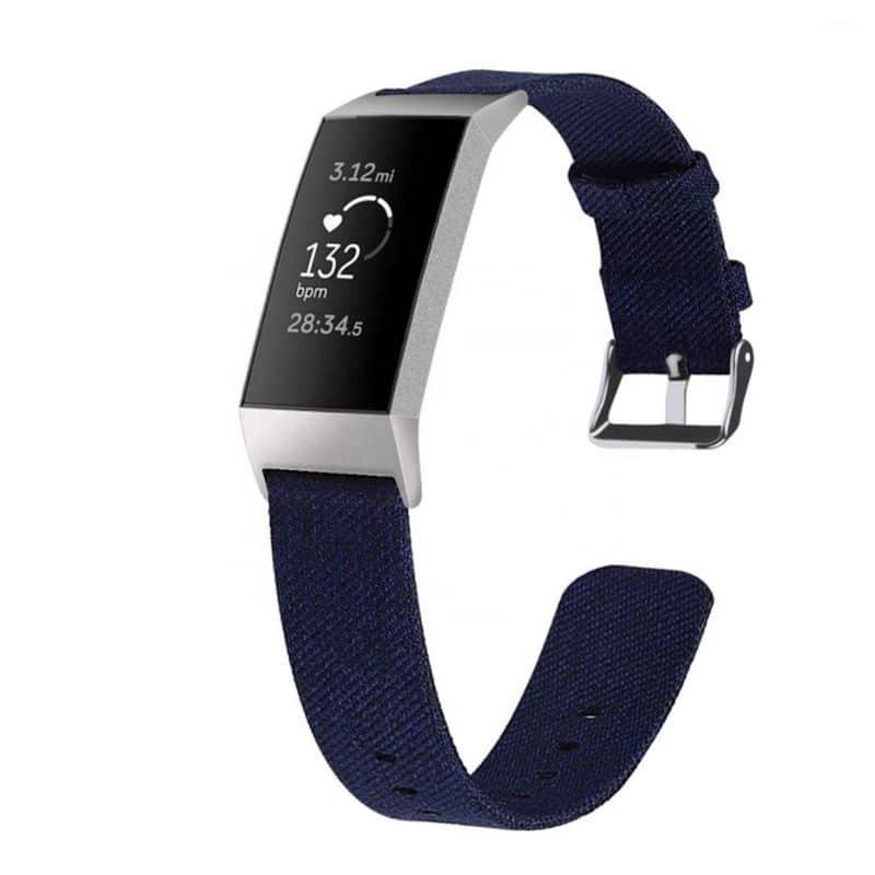 Fitbit bandje Charge 3 Marineblauw - Onlinebandjes.nl