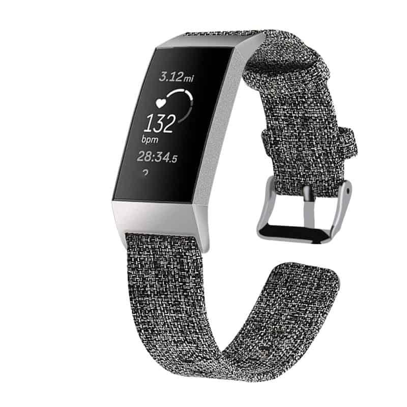 Fitbit bandje Charge 3 Nylon Grijs - Onlinebandjes.nl