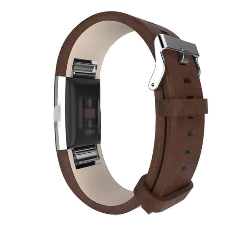 Fitbit bandje charge 2 donkerbruin - Onlinebandjes.nl
