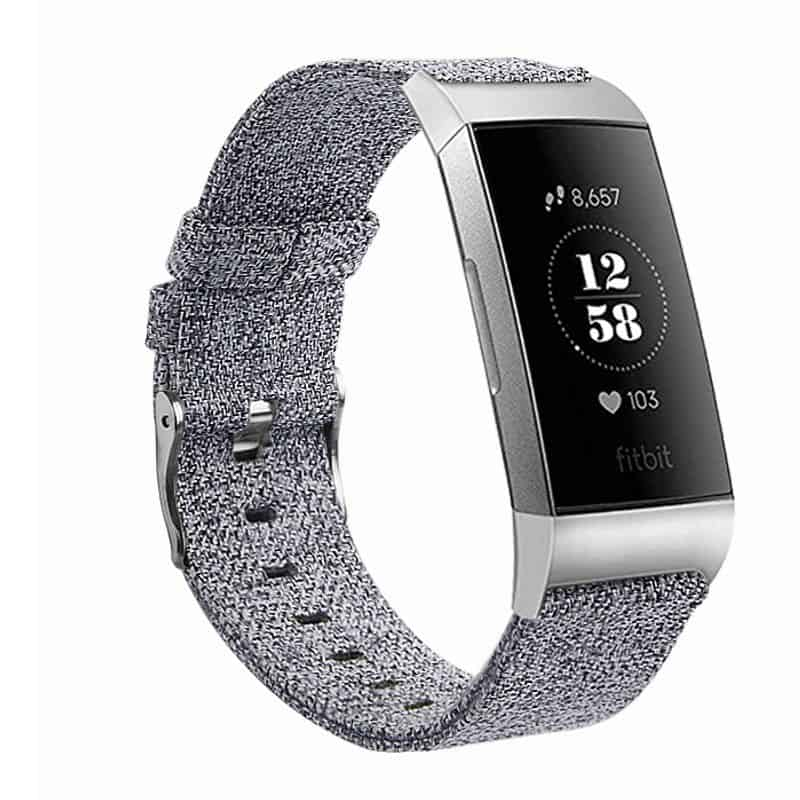 Fitbit bandje charge 3 Lichtgrijs - Onlinebandjes.nl
