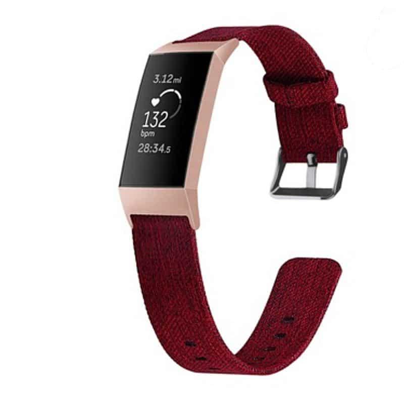 Fitbit bandje charge 3 Rood - Onlinebandjes.nl