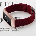 Fitbit bandje charge 3 rood nylon – Fitbitbandje.nl