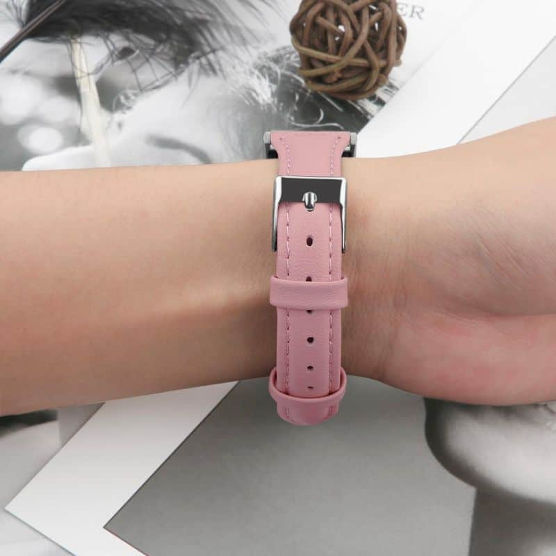 Fitbit bandje charge roze leer - Onlinebandjes.nl