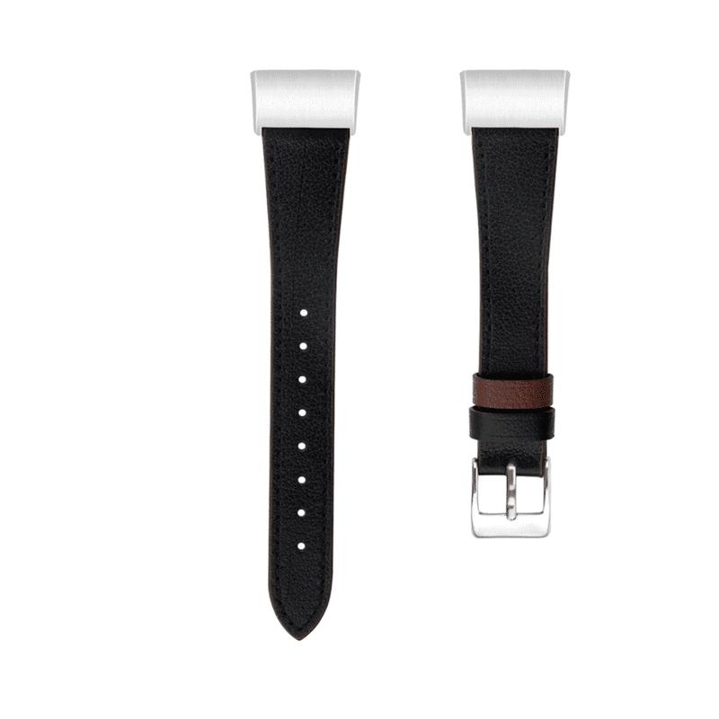 Fitbit charge 4 bandje zwart leer - Onlinebandjes.nl