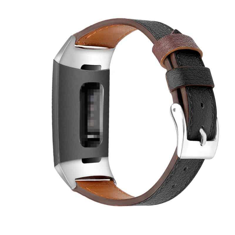 Fitbit charge bandje zwart leer - Onlinebandjes.nl