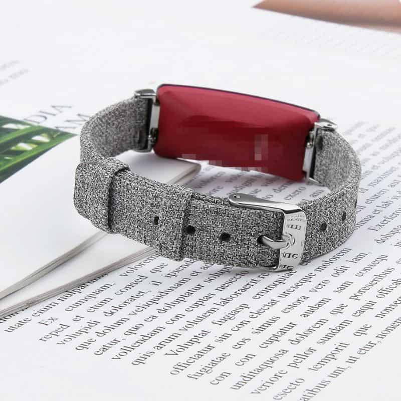 Fitbit inspire bandje canvas lichtgrijs - Onlinebandjes.nl