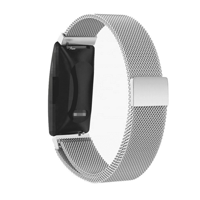 Fitbit inspire milanese bandje zilver - Onlinebandjes.nl
