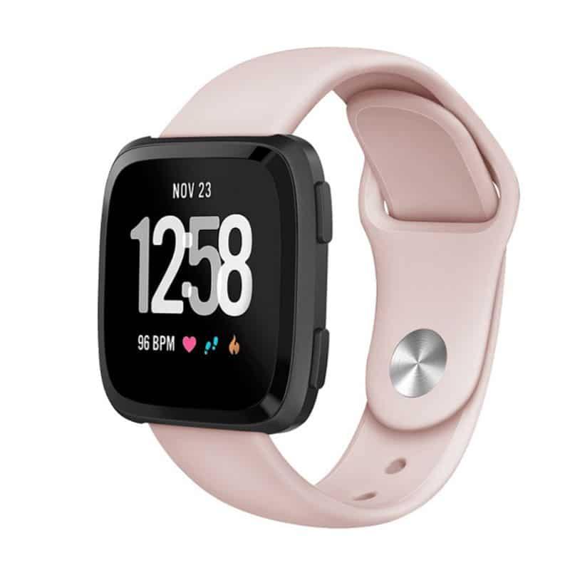 Fitbit versa bandje siliconen licht roze - Onlinebandjes.nl
