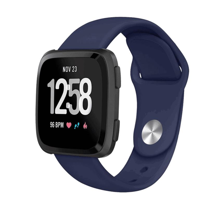 Fitbit versa bandje siliconen marineblauw - Onlinebandjes.nl
