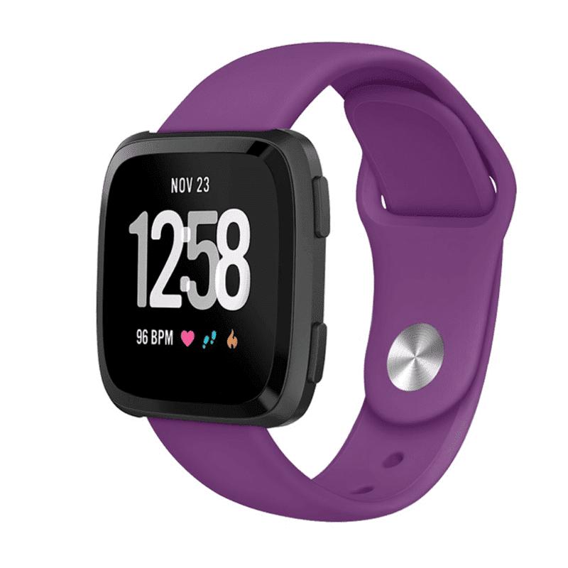 Fitbit versa bandje siliconen paars - Onlinebandjes.nl