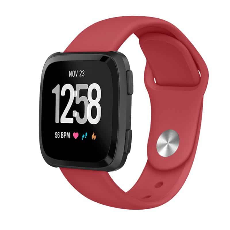 Fitbit versa bandje siliconen rood - Onlinebandjes.nl