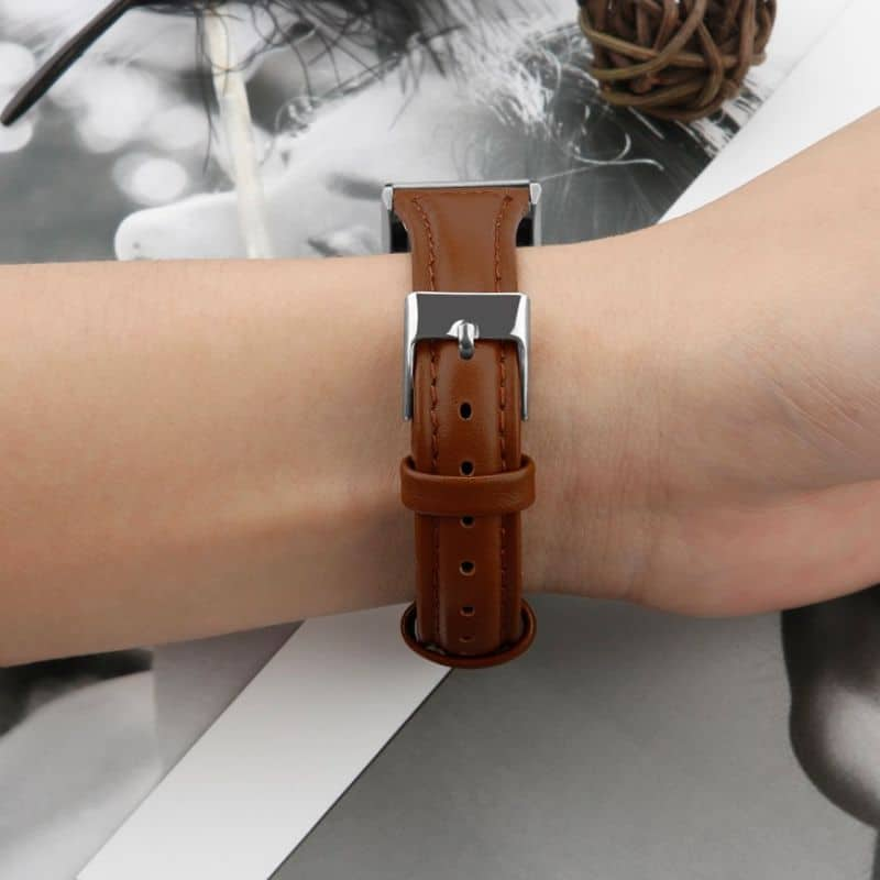 Fitbitbandje charge 2 leer bruin - Onlinebandjes.nl