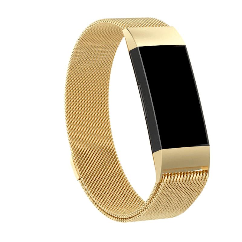 fitbit charge 3-4 bandje milanese - goud - Onlinebandjes.nl