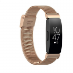 Fitbit inspire bandje milanese roze goud druksluiting – Fitbitbandje.nl