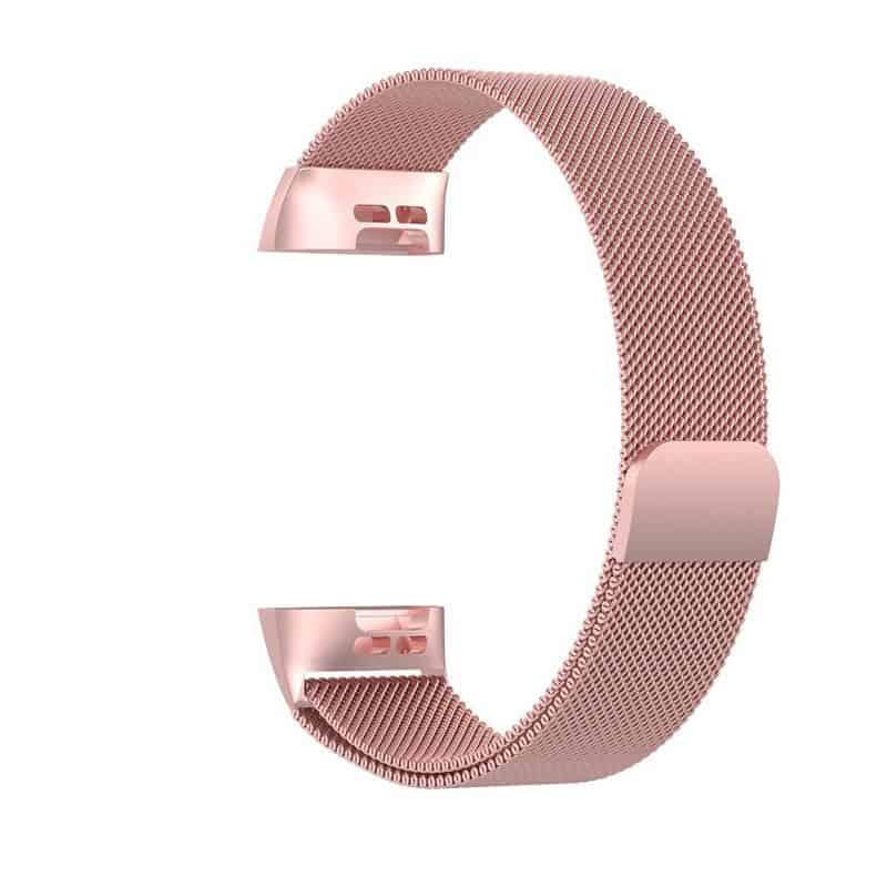 fitbit bandje charge 3-4 milanese roze - Onlinebandjes.nl