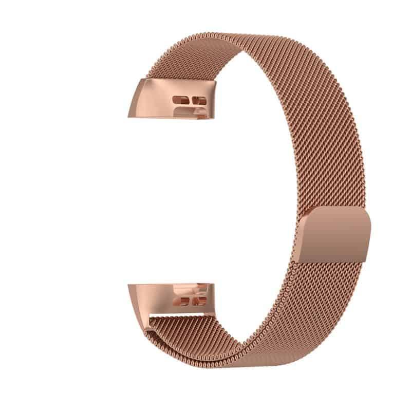 fitbit bandje charge 4 milanese roze goud - Onlinebandjes.nl
