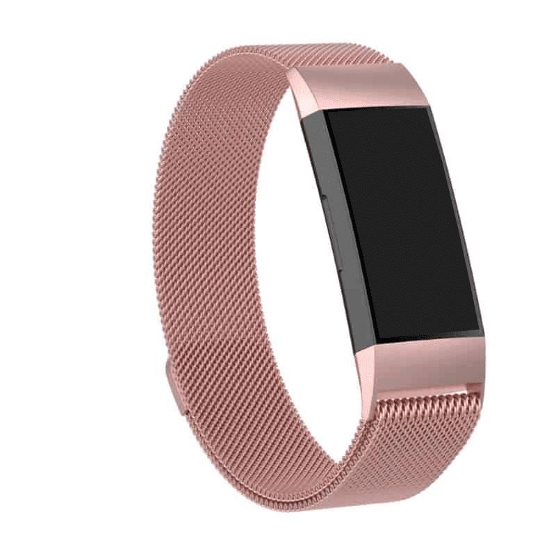 fitbit charge 3-4 bandje milanese roze - Onlinebandjes.nl