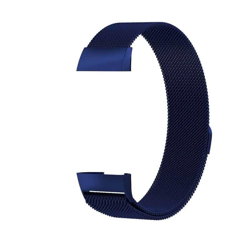 fitbit charge 3 milanese bandje donkerblauw - Onlinebandjes.nl