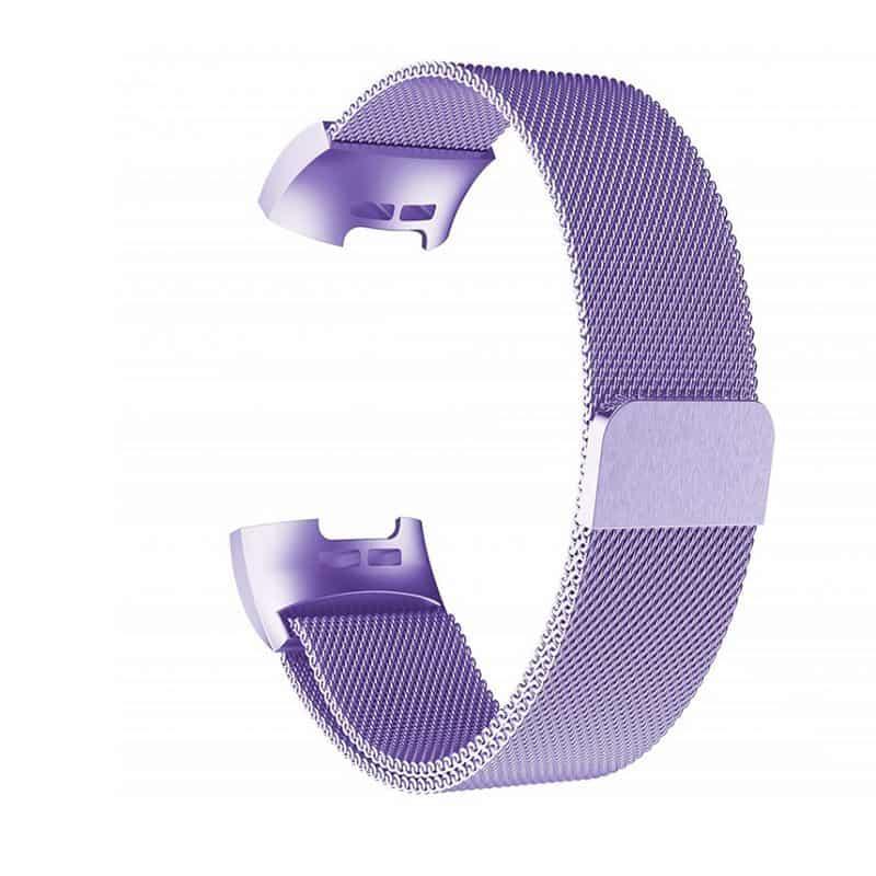 fitbit charge 4 bandje milanese paars - Onlinebandjes.nl