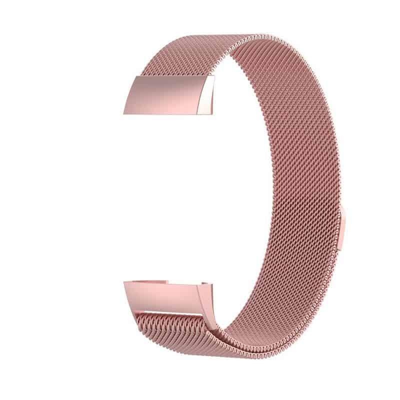 fitbit charge 4 bandje milanese roze - Onlinebandjes.nl
