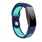 fitbit inspire bandje sport siliconen -blauw-groen – Fitbitbandje.nl
