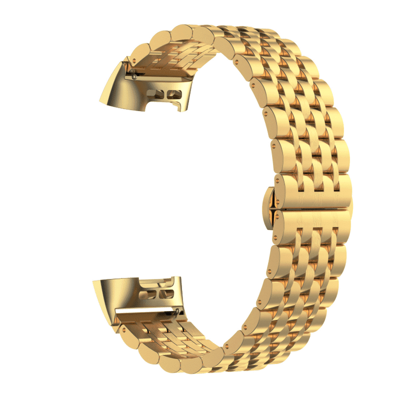 Fitbit charge 3 rvs goud - Onlinebandjes.nl