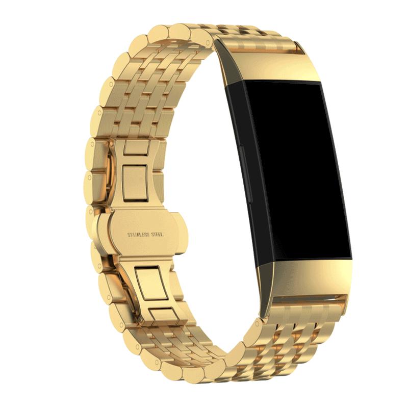 Fitbit charge 4 rvs goud - Onlinebandjes.nl