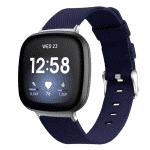 Fitbit versa 3 bandje marineblauw nylon – Fitbitbandje.nl