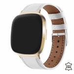 Fitbit versa3 bandje leer wit – Onlinebandjes.nl