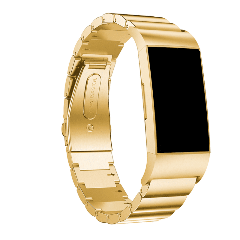 Fitbit Charge 4 RVS goud - Onlinebandjes.nl