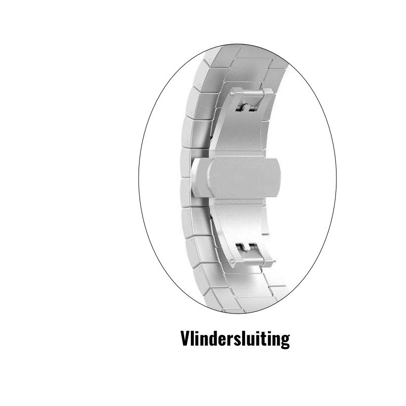 Fitbit Charge 4 rvs vlindersluiting zilver - Onlinebandjes.nl