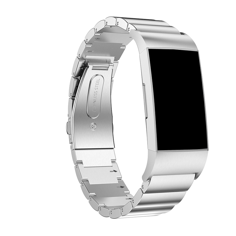Fitbit Charge4 RVS zilver - Onlinebandjes.nl