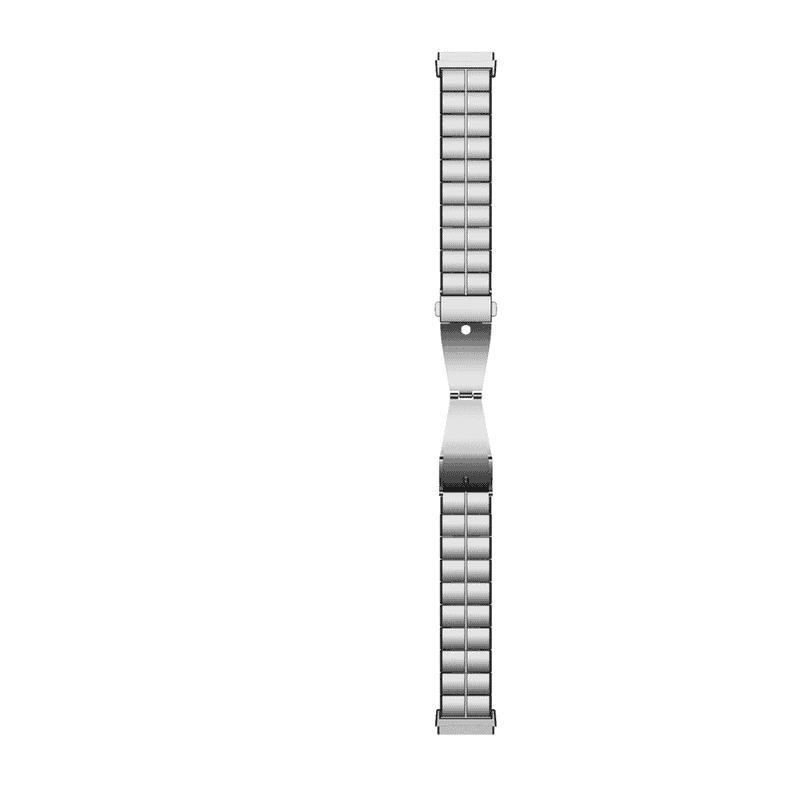 Fitbit Sense Fitbit Versa 3 bandjes RVS zilver - Onlinebandjes.nl