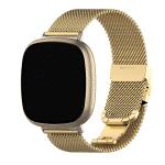 Fitbit Versa 3 Fitbit Sense RVS goud – Onlinebandjes.nl