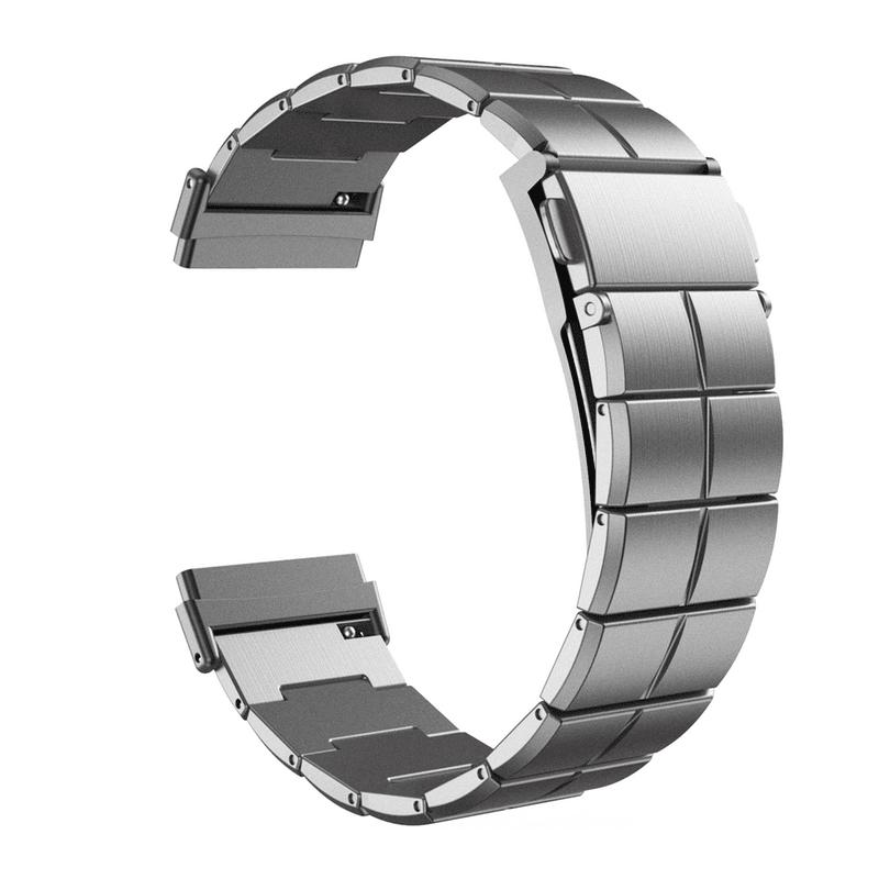 Fitbit Versa 3 Fitbit Sense bandje RVS Zilver - Onlinebandjes.nl