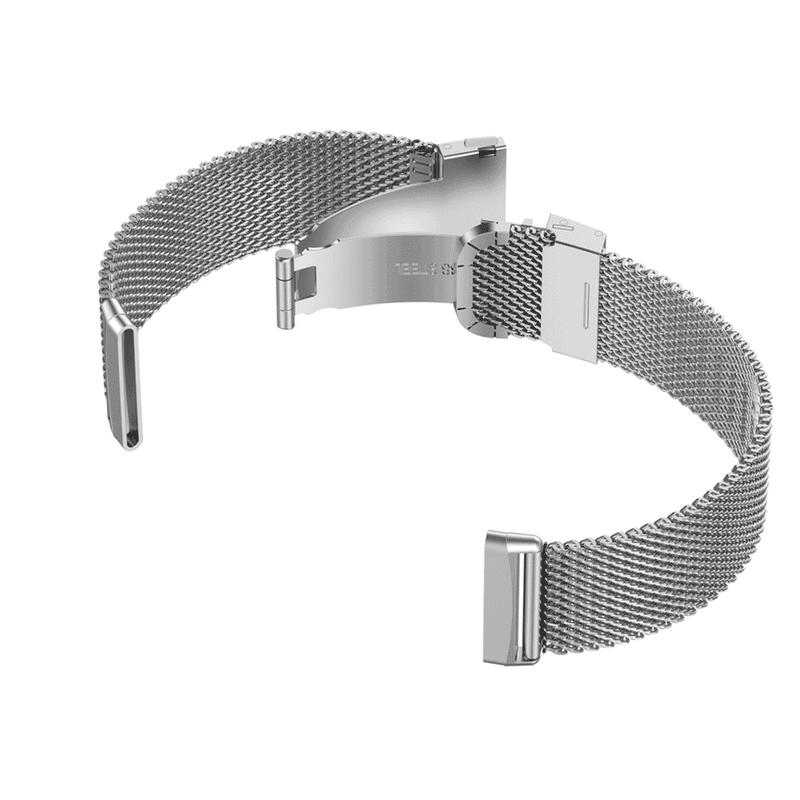 Fitbit Versa 3 bandjes Zilver rvs - Onlinebandjes.nl