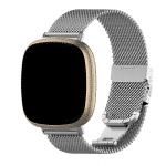 Fitbit versa 3 bandje rvs zilver – Onlinebandjes.nl