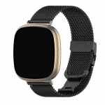 Fitbit versa 3 bandjes rvs zwart – Onlinebandjes.nl
