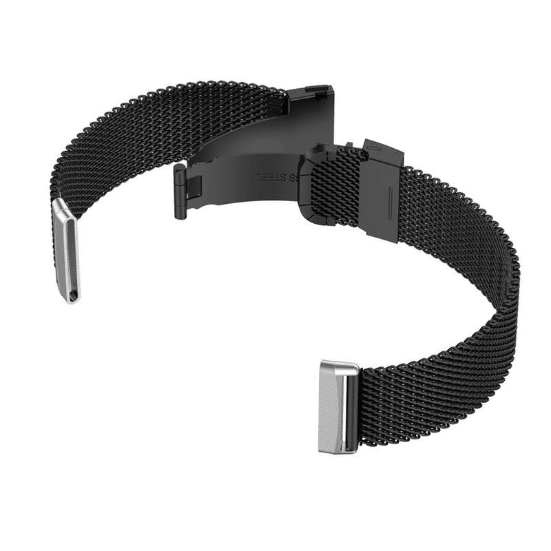 Fitbit versa 3 zwart rvs - Onlinebandjes.nl