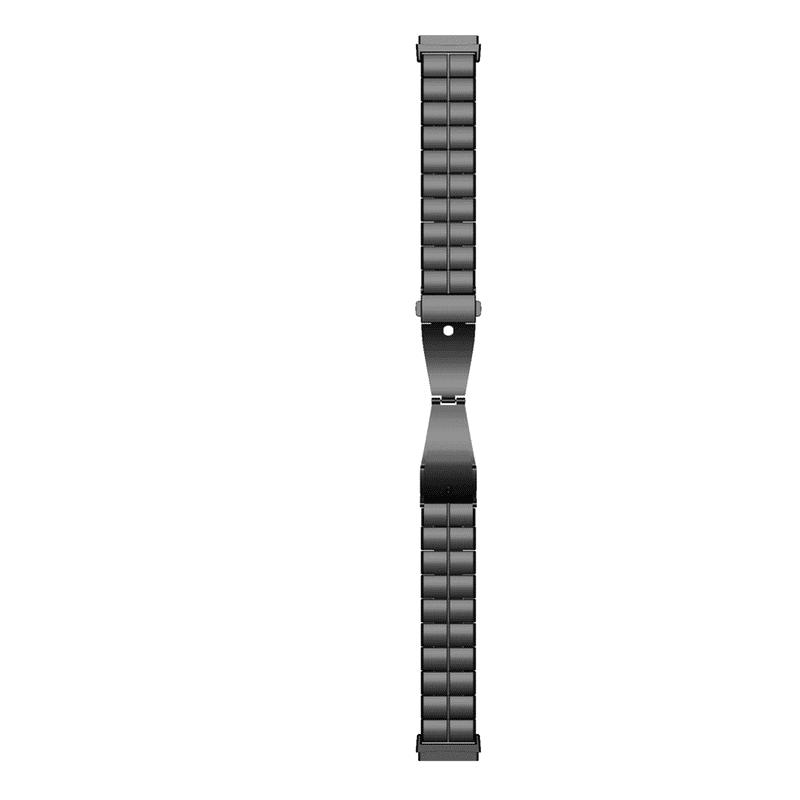 fitbit versa 3 bandje Fitbit Sense RVS zwart - Onlinebandjes.nl