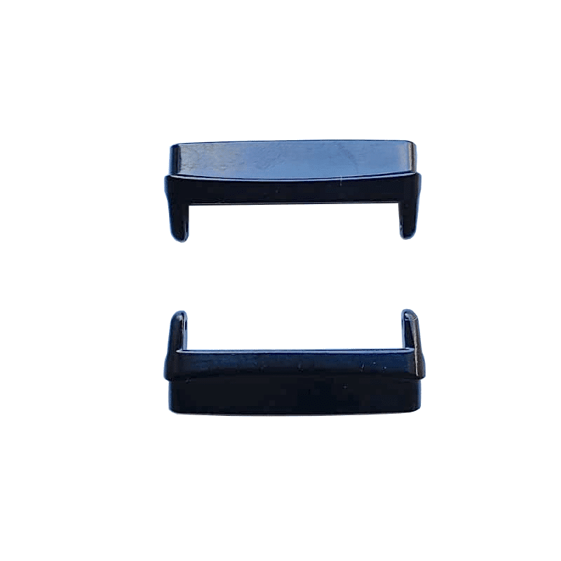 Metalen connector Fitbit Versa 3 zwart- Onlinebandjes.nl