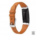 Fitbit Inspire bandje leer bruin – Onlinebandjes.nl