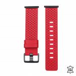Fitbit Sense bandje leer rood – Onlinebandjes.nl