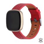 Fitbit Versa 3 bandje leer rood – Onlinebnadjes.nl